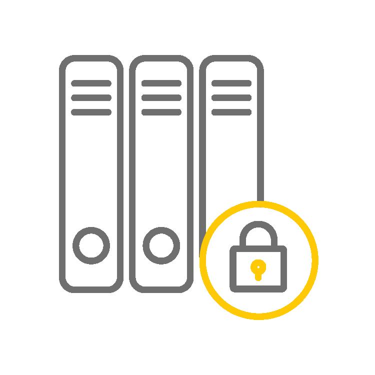picto serveurs sécurisés et cadenacés