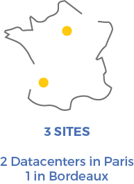 Map of Datacenters in France for Arkhineo