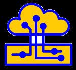 picto d'un système GED et d'un nuage connecté