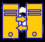 picto de l'implémentation d'un SAE avec deux serveurs